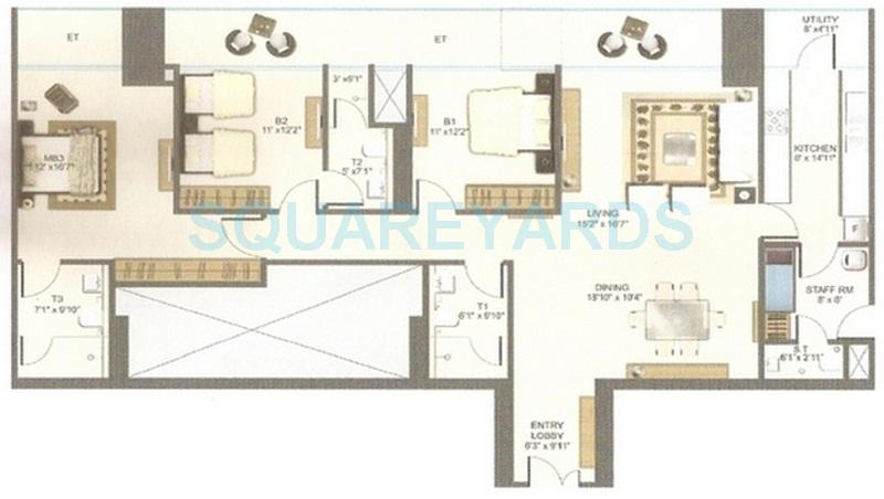 bombay realty two icc apartment 3bhk 2610sqft 1
