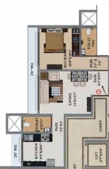 buildtech artiz elite apartment 1 bhk 491sqft 20204416124400