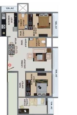 buildtech artiz elite apartment 2 bhk 744sqft 20204616124606