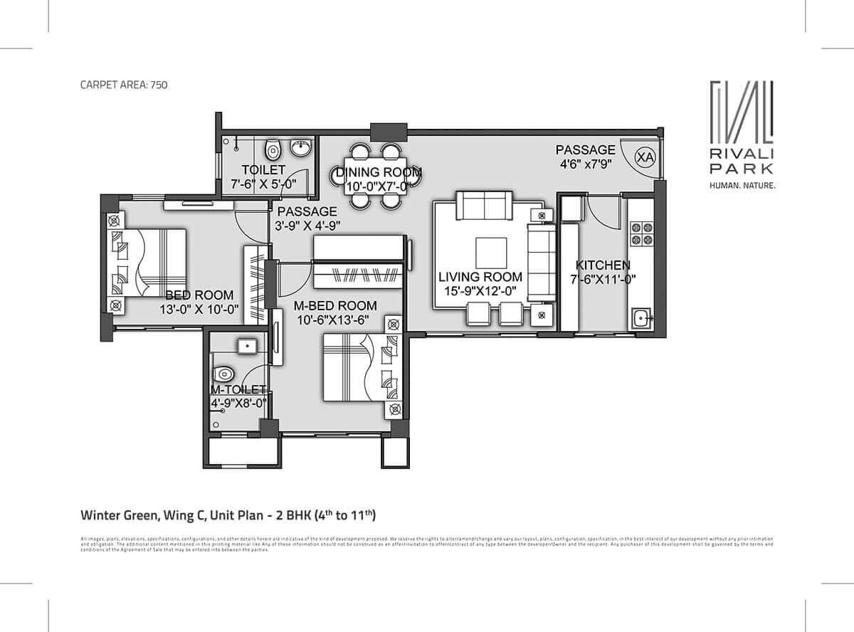 cci rivali park apartment 2bhk 1238sqft 1