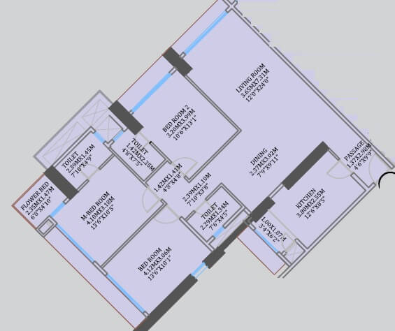 cci rivali park apartment 3bhk 1201sqft 1