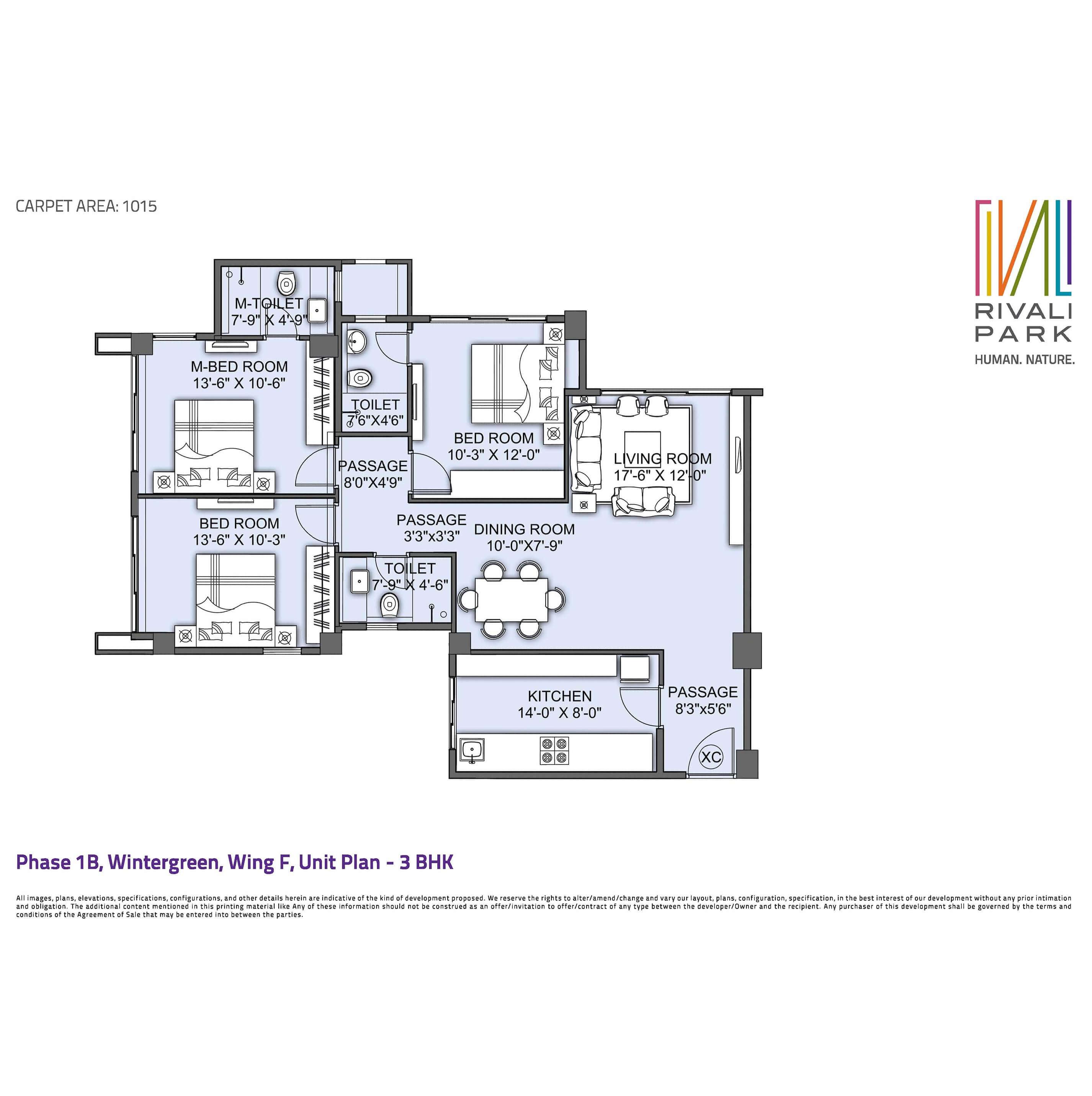 cci rivali park apartment 3bhk 1675sqft 1