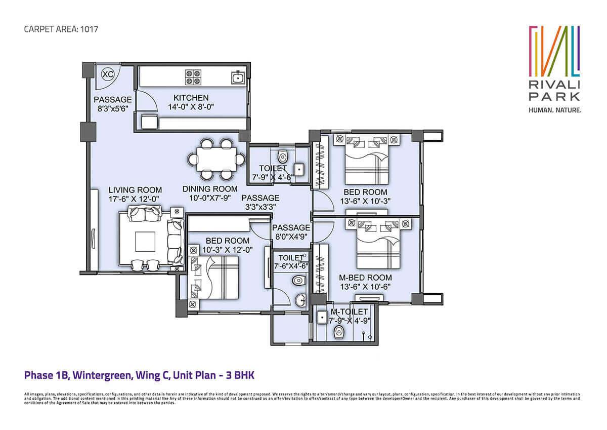 cci rivali park apartment 3bhk 1678sqft 1