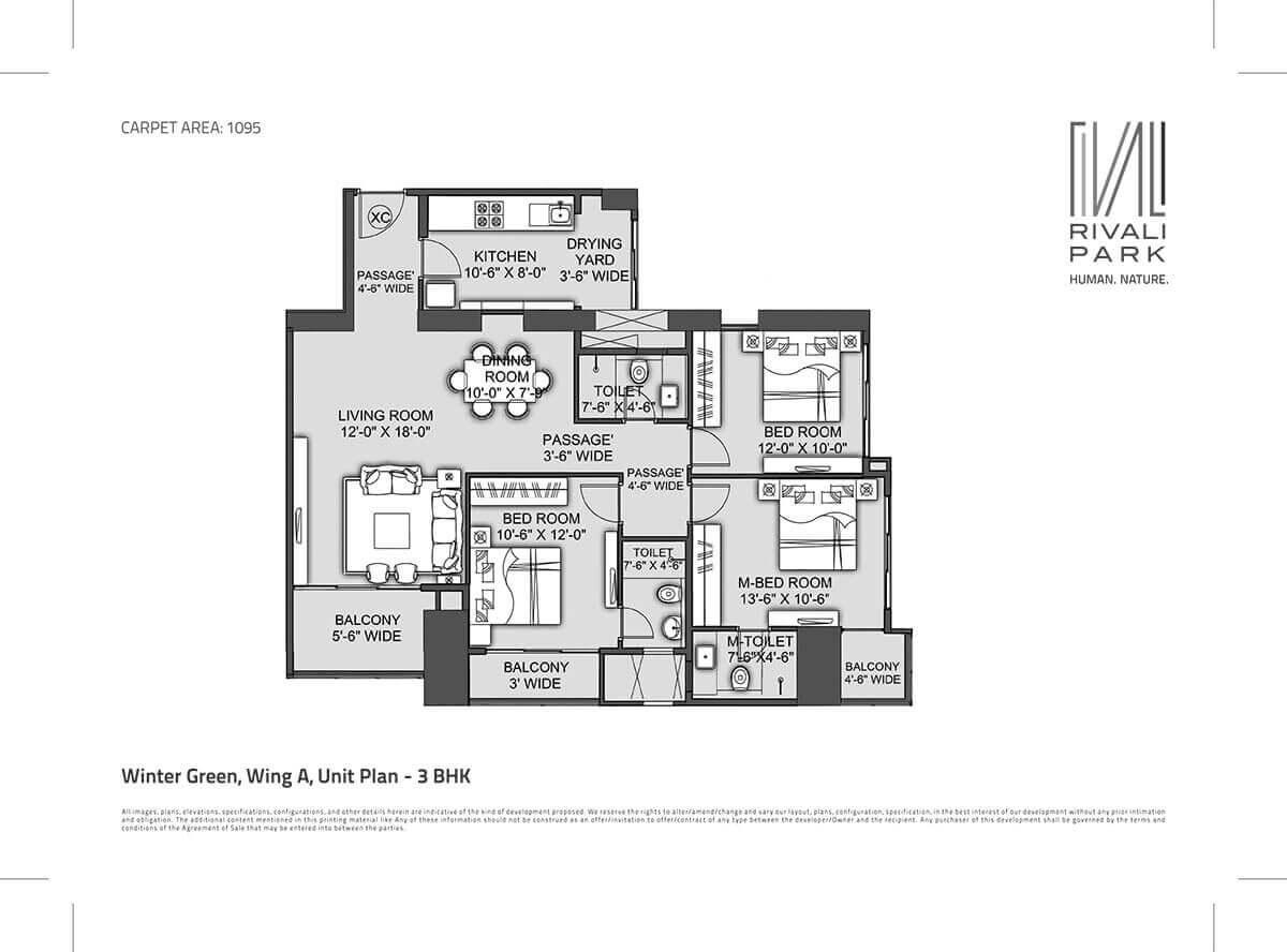 cci rivali park apartment 3bhk 1807sqft 1