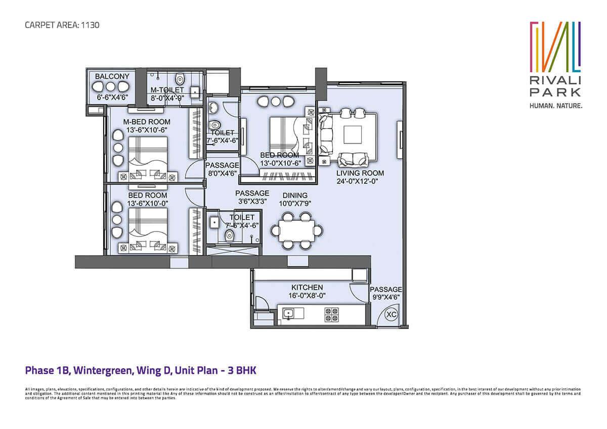 cci rivali park apartment 3bhk 1865sqft 1