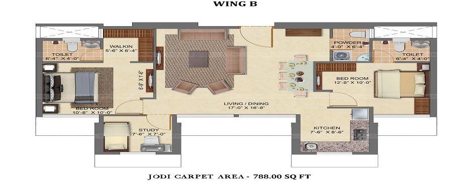 chandak 34 park estate apartment 3 bhk 788sqft 20213301153341