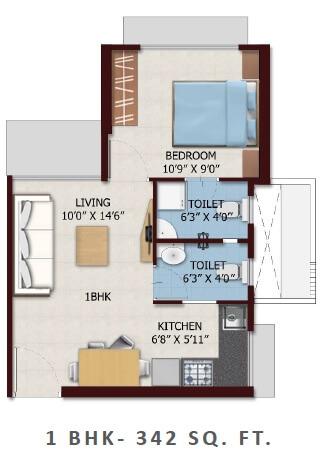 chandak nishchay apartment 1bhk 342sqft 1
