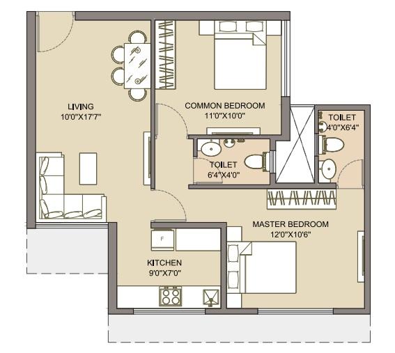 chandak nishchay apartment 2bhk 583sqft31