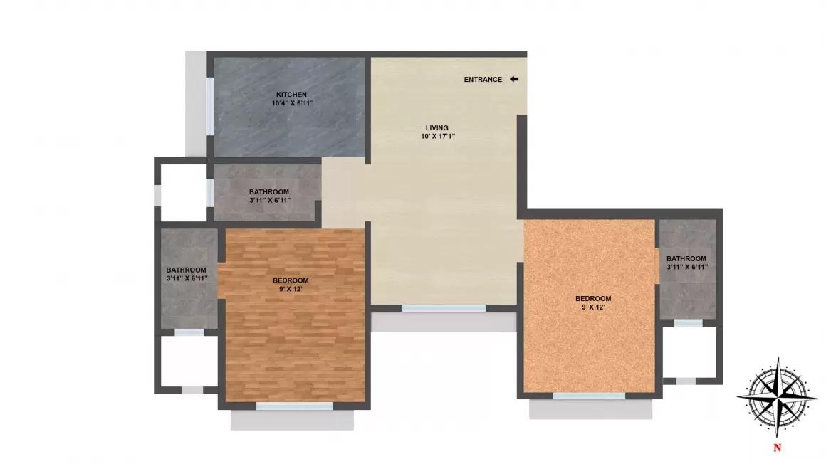 chandak sparkling wings apartment 2bhk 915sqft 20202220152257