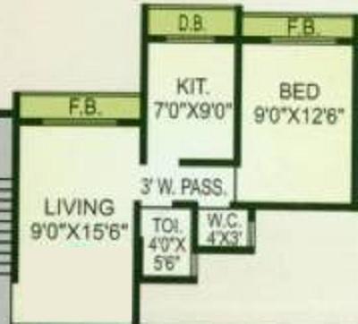 chetana kailash heights apartment 1 bhk 470sqft 20210811180811