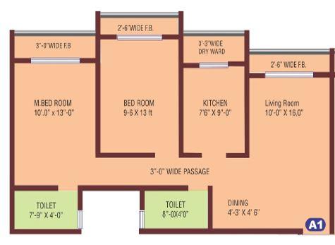 dattani vertex wing ab phase ii apartment 2 bhk 733sqft 20213031123033