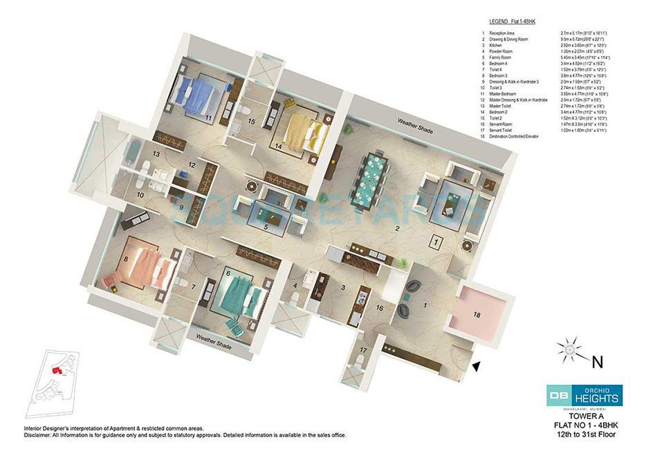 db realty orchid heights apartment 4bhk 4300sqft1