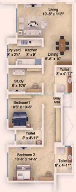 db realty skypark apartment 2bhk 1554sqft1