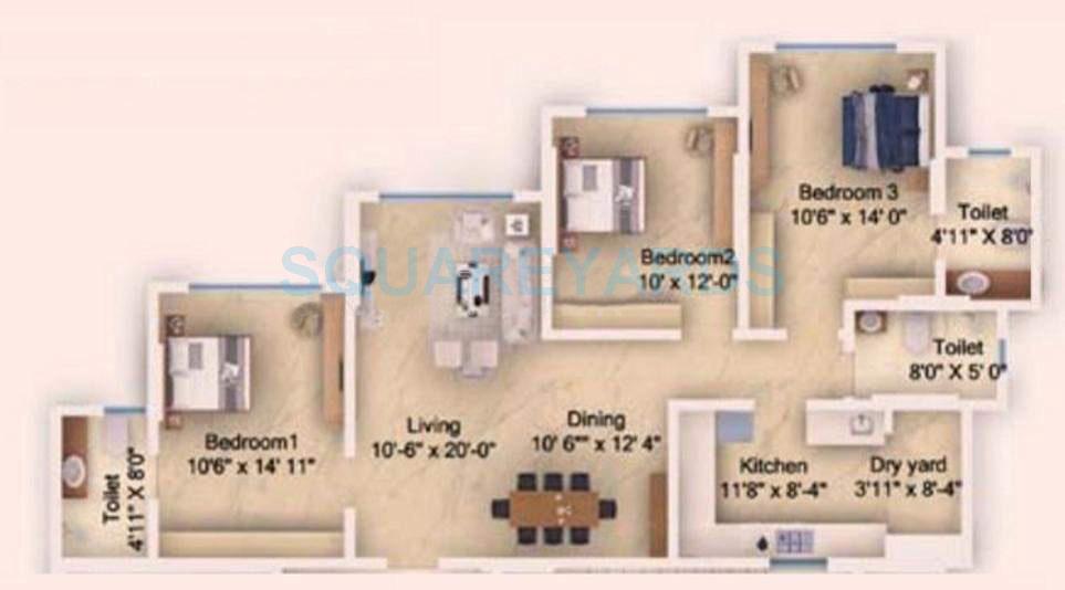 db realty skypark apartment 3bhk 1762sqft1