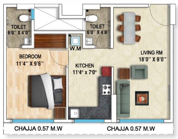 dhanraj ashoka grandeur apartment 1 bhk 380sqft 20212531112525