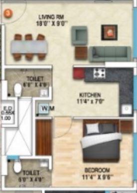 dhanraj ashoka grandeur apartment 1 bhk 431sqft 20210031120038