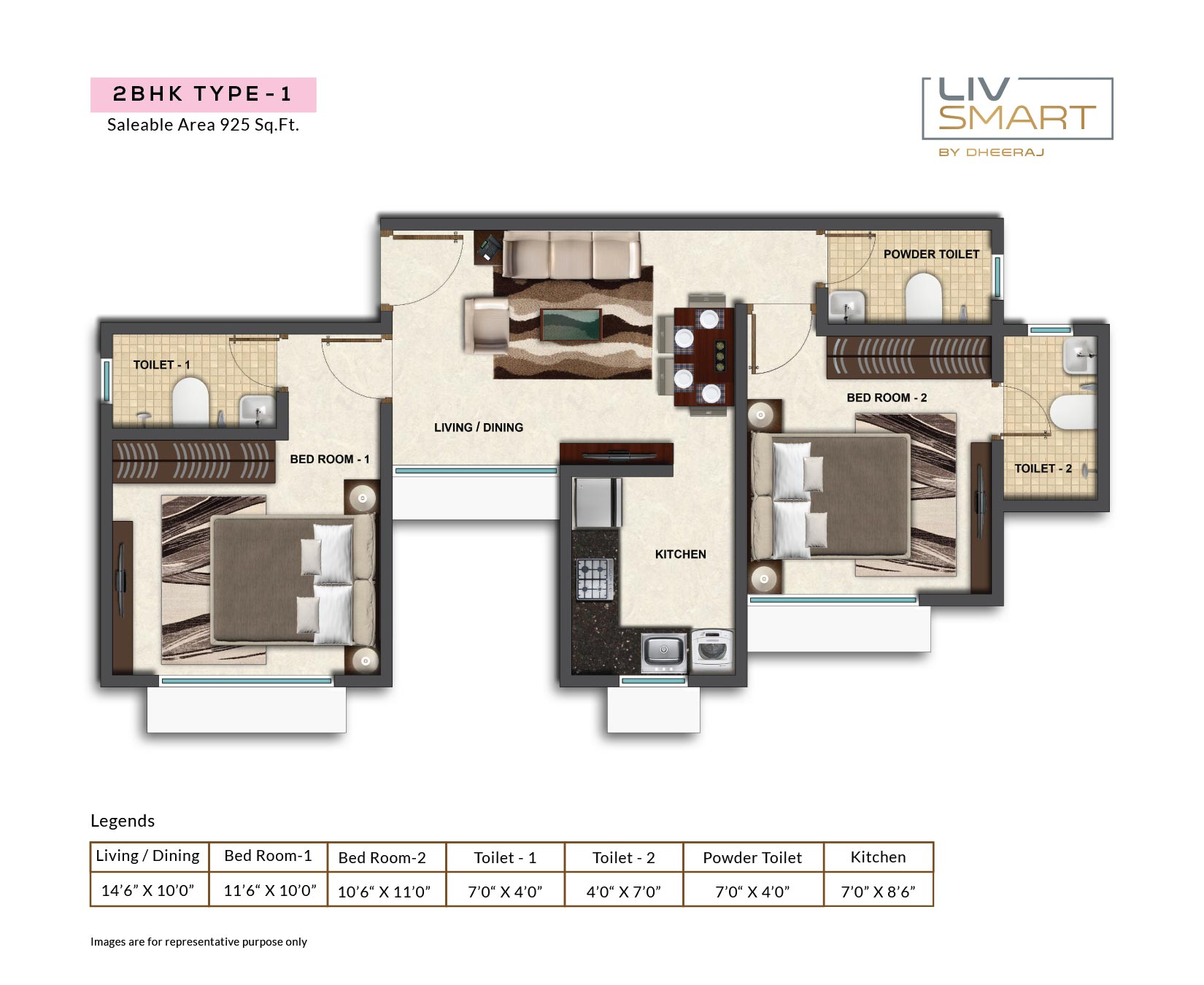 dheeraj liv smart apartment 2bhk 925sqft 1