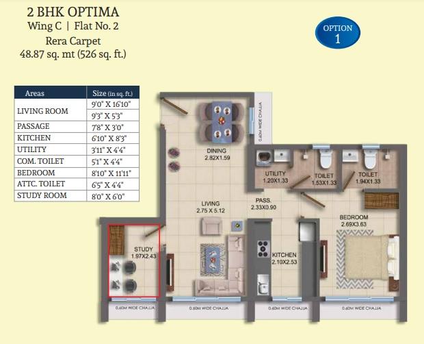 dosti oro 67 apartment 2 bhk 526sqft 20215419105448