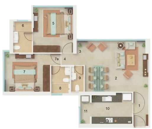 dynamix divum apartment 2bhk 788sqft 11