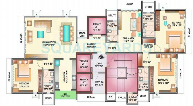 ekta world eudora apartment 4bhk 1745sqft 1