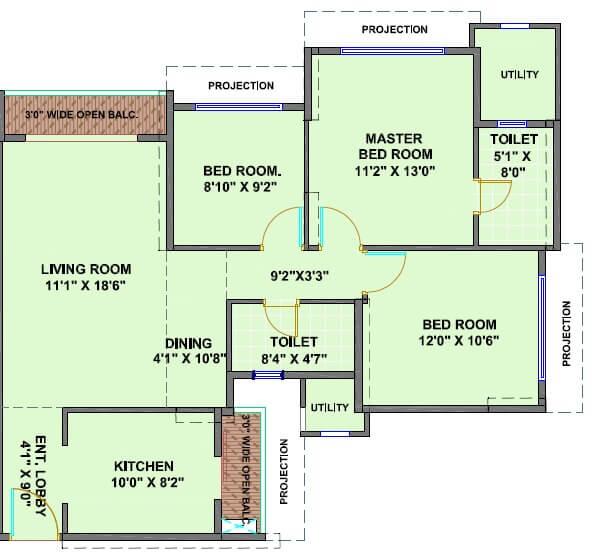 ekta world skypolis apartment 3bhk 1415sqft 1