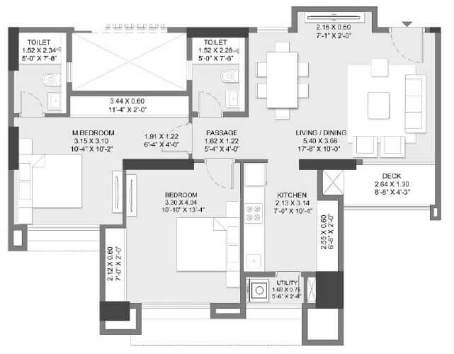 godrej alive apartment 2bhk 795sqft 1