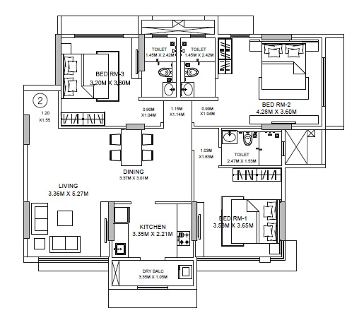 godrej central apartment 3bhk 1084sqft51