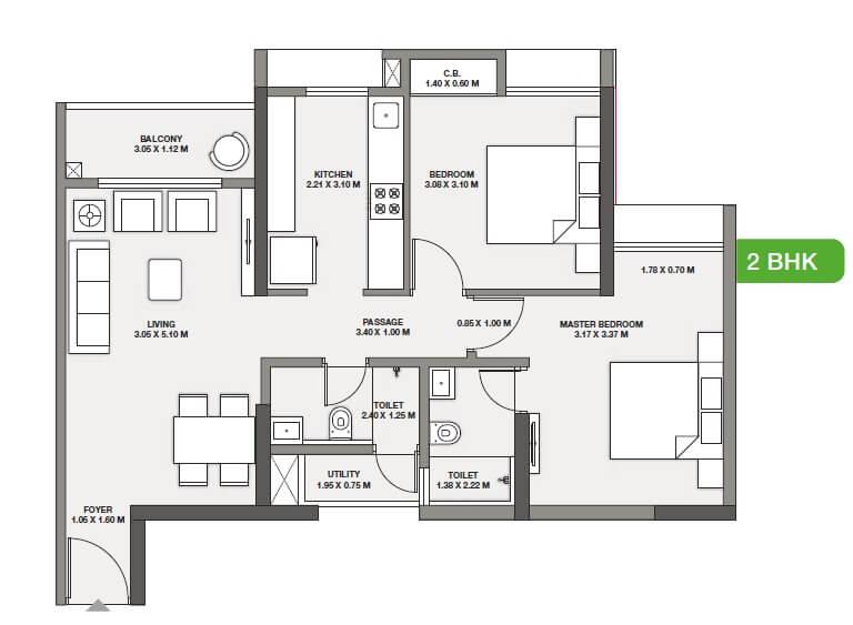 godrej emerald vista apartment 2bhk 641sqft 1
