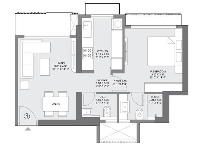 godrej nest kandivali apartment 1bhk 428sqft 1