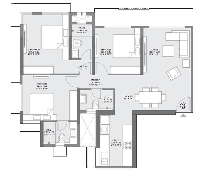 godrej nest kandivali apartment 3bhk 860sqft 1