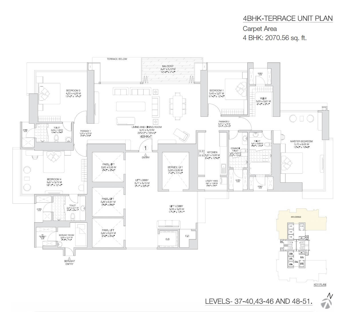 godrej sky apartment 4bhk 2070sqft 1