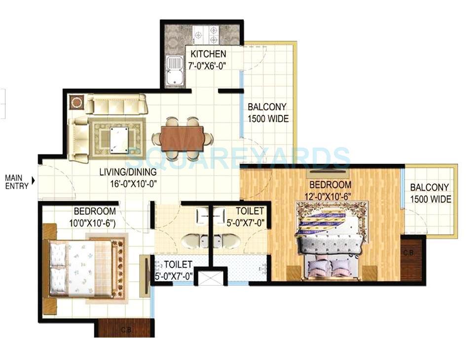 godrej sky garden apartment 2bhk 1170sqft1