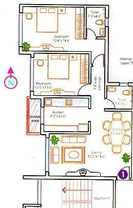 gundecha builders heights apartment 2bhk 1025sqft 1