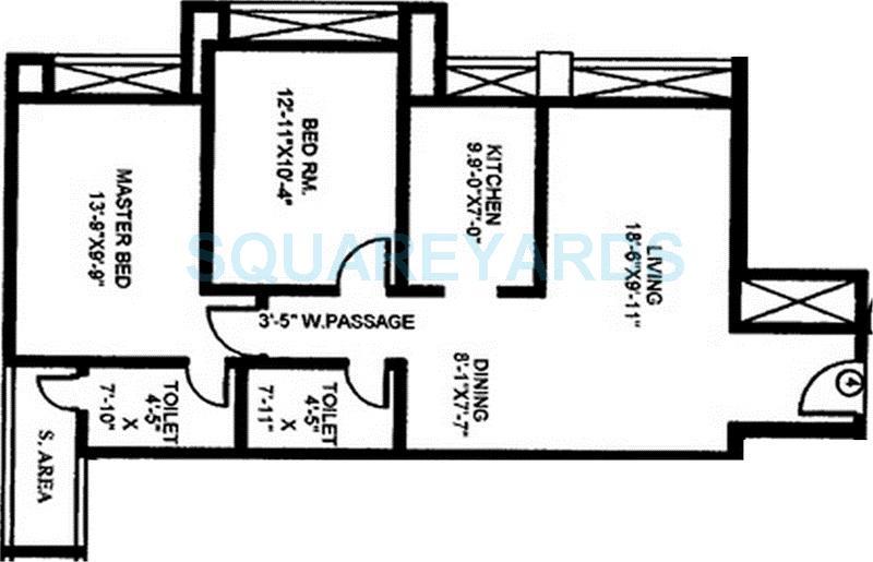 gundecha builders heights apartment 2bhk 1175sqft 1