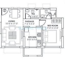 gundecha builders montego apartment 1bhk 444sqft 1
