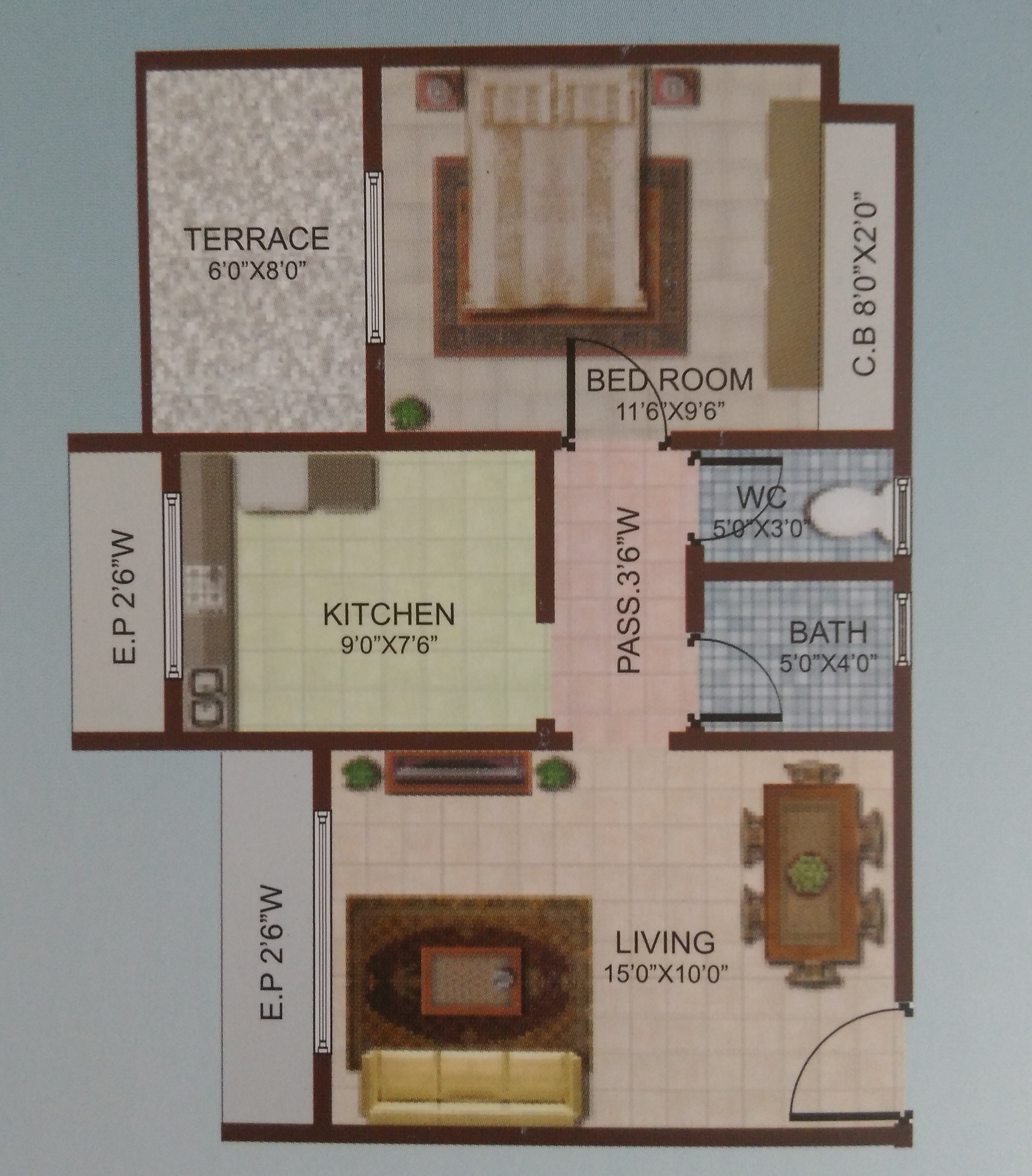 700 Sq Ft 1 bhk 700 sq. ft. apartment for sale in happy home sarvodaya leela