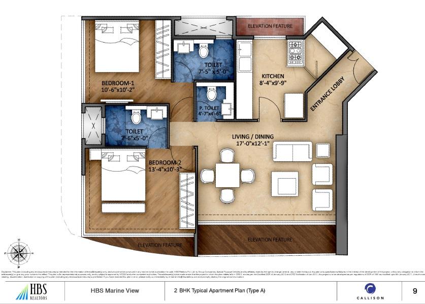 hbs marineview apartment 2bhk 809sqft 1