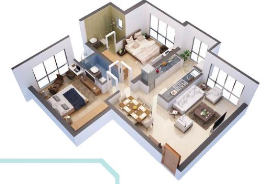 hdil whispering towers apartment 2bhk 1470sqft41
