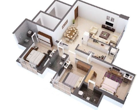 hdil whispering towers apartment 3bhk 1795sqft41