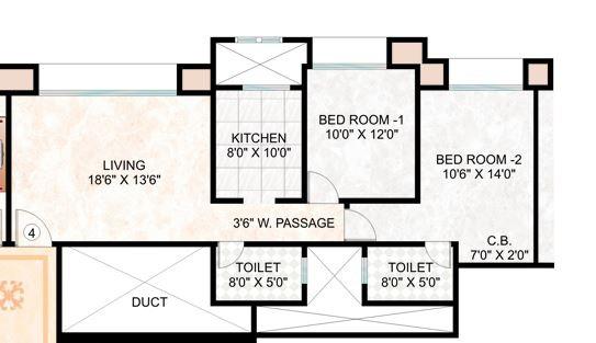 hiranandani eva apartment 2bhk 1040sqft21