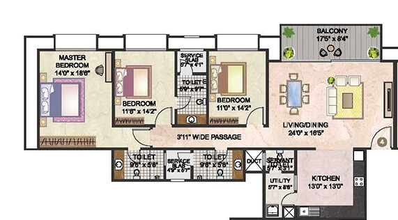 hiranandani fortune city apartment 3bhk 2375sqft 1