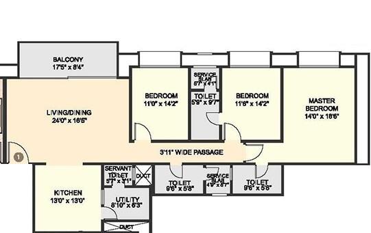 hiranandani fortune city apartment 3bhk 2390sqft 1