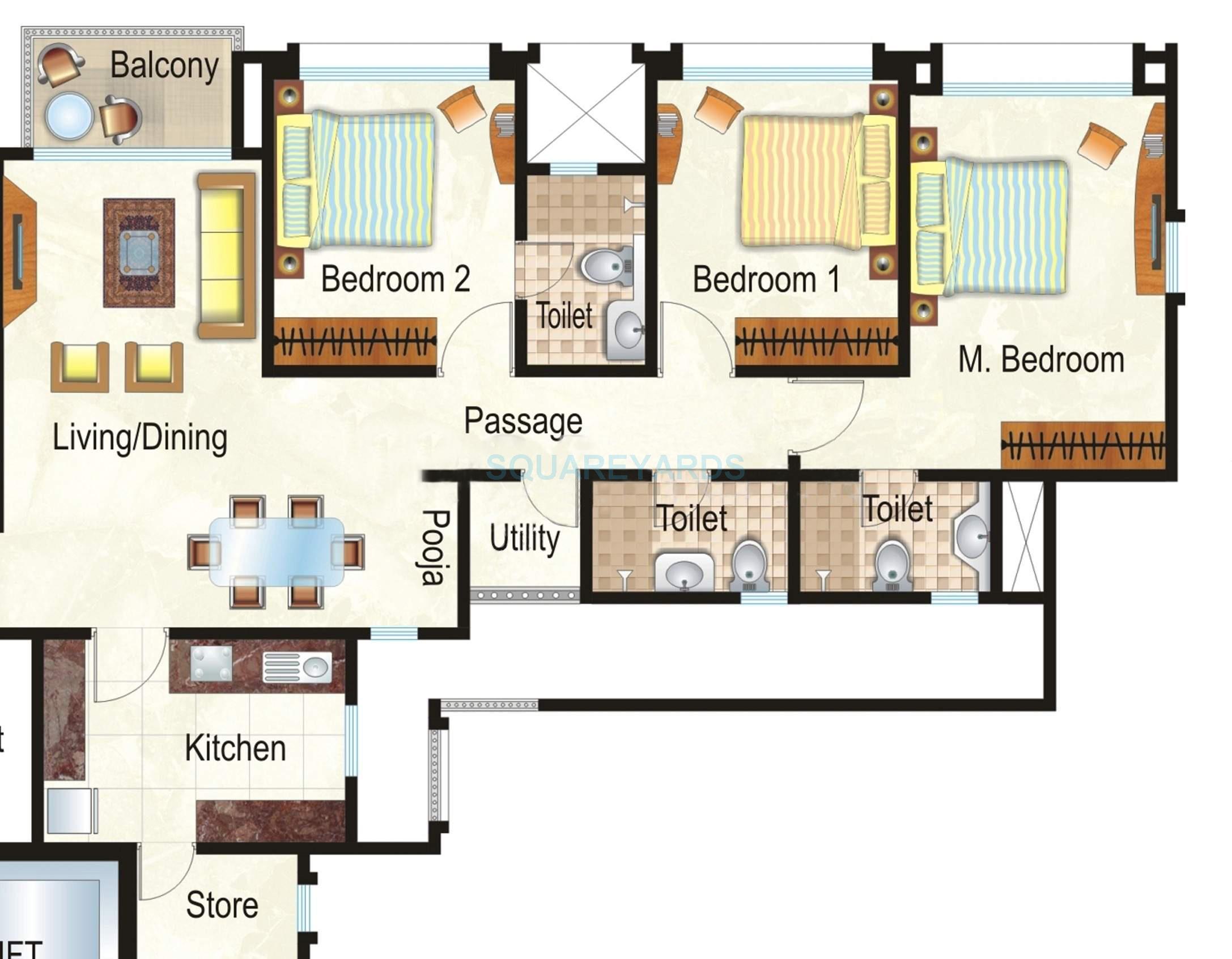 hiranandani heritage apartment 3bhk 1570sqft1