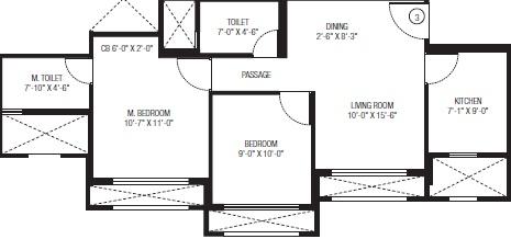 hiranandani obelia the walk apartment 2bhk 549sqft 51