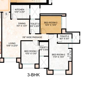 hiranandani woodville apartment 2bhk 1011sqft1