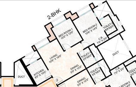 hiranandani woodville apartment 2bhk 727sqft1