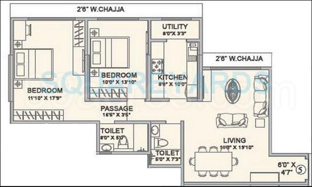 hubtown seasons apartment 2bhk 1328sqft1