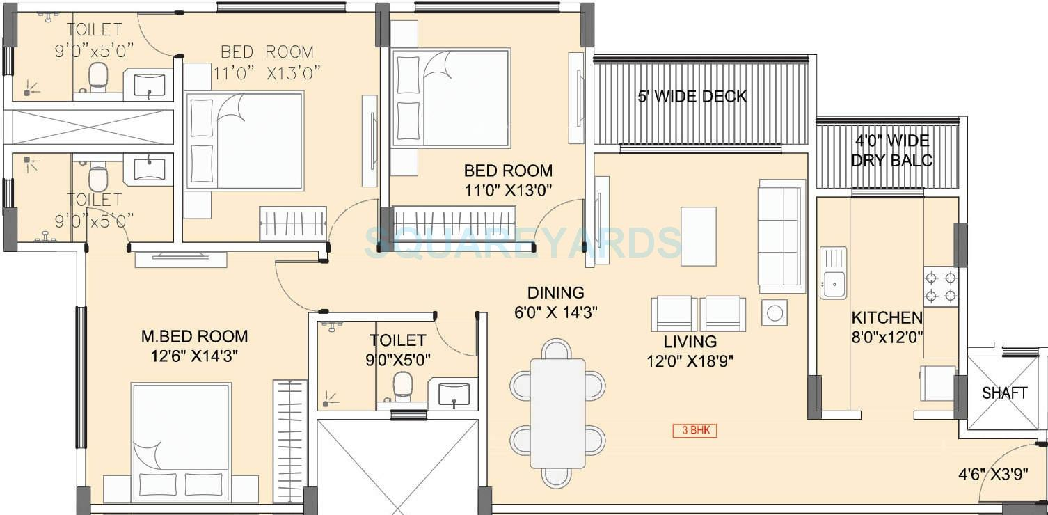 hubtown seasons apartment 3bhk 1926sqft1