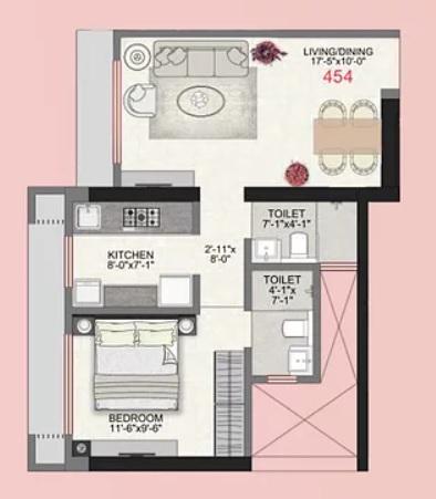 im applaud 38 apartment 1 bhk 454sqft 20214825174808