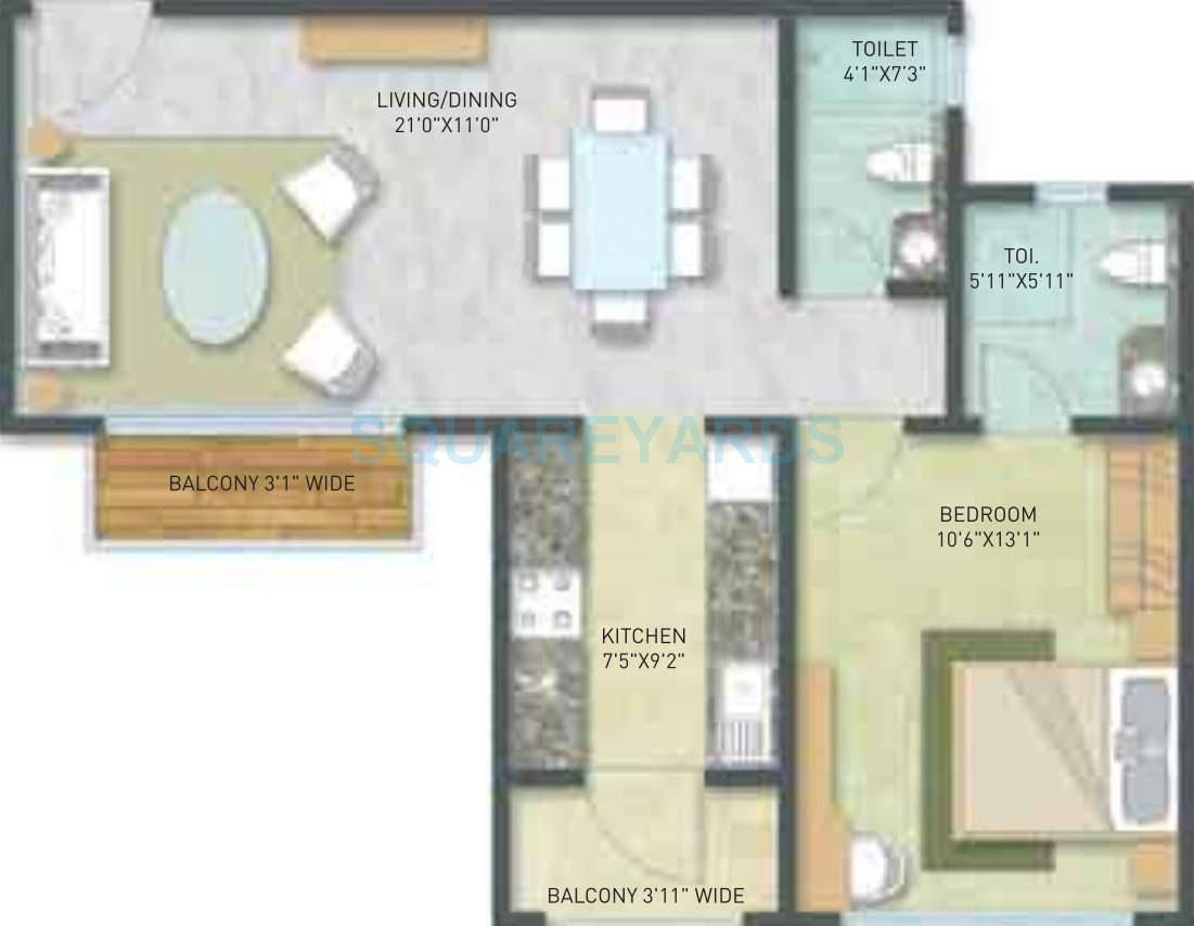 indiabulls golf city apartment 1bhk 918sqft1